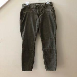 LOFT Petite Curvy Skinny Ankle Corduroy Pants